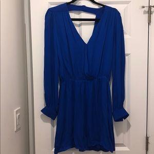 Parker Royal Blue Silk Dress sz L